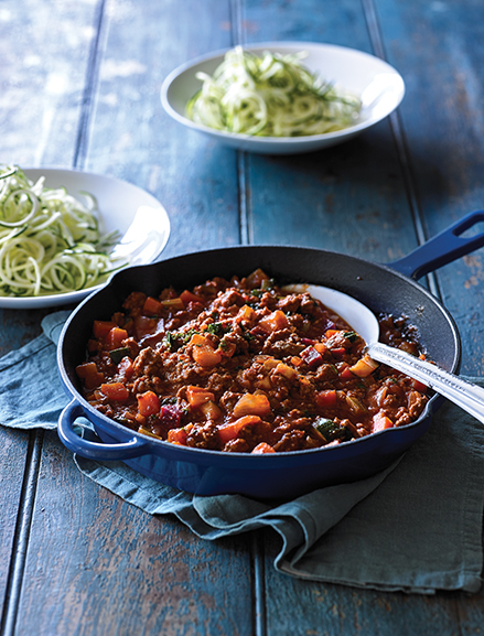Tender grass-fed Australian beef mince slowly cooked in a classic Italian style tomato sauce & tossed with loads of vegetables. Perfect to be served with your favourite vegetable noodles or pasta.